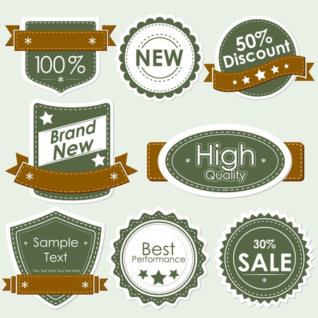 discount coupon: illustration of set of selling badge for sale,discount and off