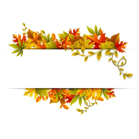 illustration of autumn banner with maple leaf illustration