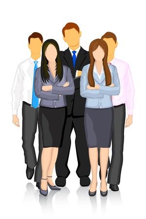 офис: Иллюстрация группы деловых людей формирования команды