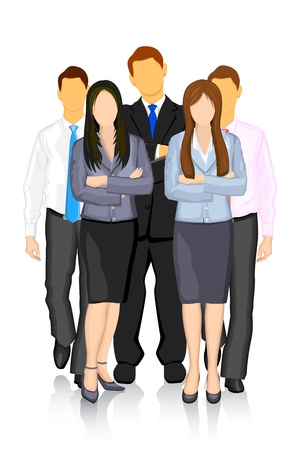 illustration of group of business people forming team Vector