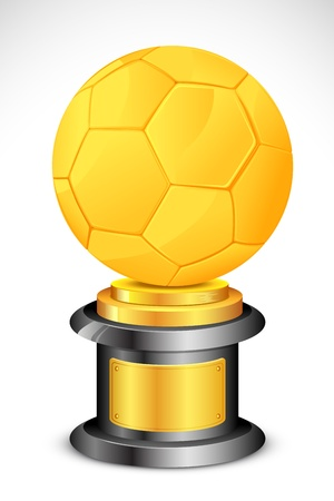 illustration of golden soccer ball trophy on abstract background Stock Vector - 13028889