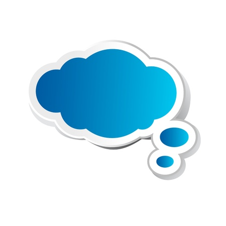 illustratie van chat-bubble in papier sticker stijl