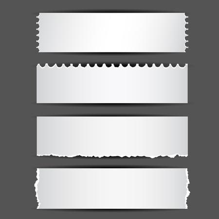 illustration de jeu de différents types de papier déchiré