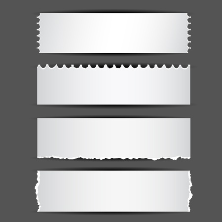 illustration of set of different type of ripped paper Stock Vector - 13142810