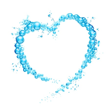 illustration of water splash forming heart shape Stock Vector - 13226793