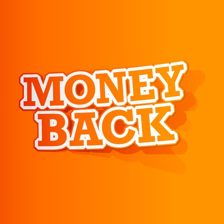 illustration of sticker of money back tag in paper cut out Stock Vector - 13226765