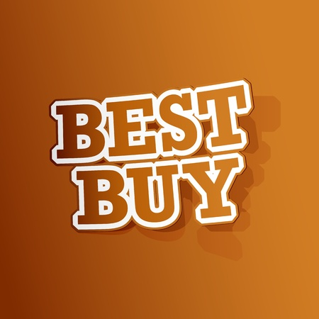 illustration of sticker of best buy tag in paper cut out Vector