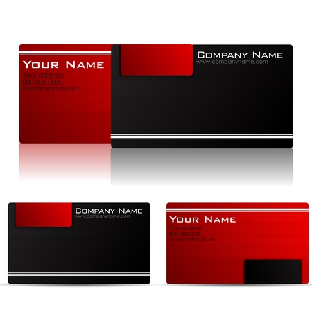 visiting card design: illustration of front and back of corporate busines card Illustration