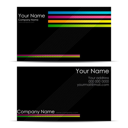 illustration of front and back of corporate busines card illustration