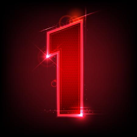 numero uno: ilustración del número siete que brilla intensamente en fondo abstracto