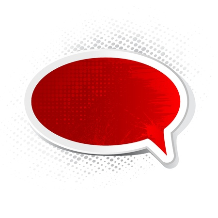 illustration of chat bubble with grungy texture Vector