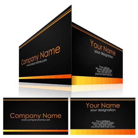 illustration of front and back of corporate business card Stock Vector - 13379013