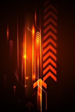 dynamic growth: illustration of abstract futuristic background with arrow