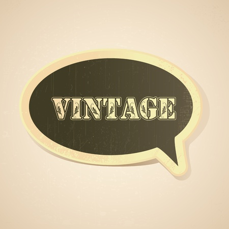 illustration of chat bubble in vintage style illustration