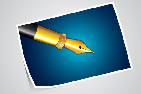 illustration of photograph of pen on abstract background Stock Vector - 13475400