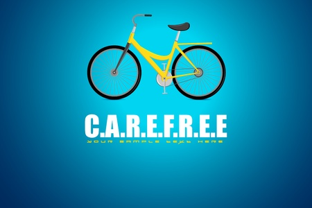 illustrazione della bicicletta in fondo motivazionale spensierata