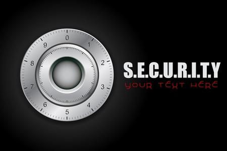 illustratiopn of combination lock on security background Stock Photo - 13475426
