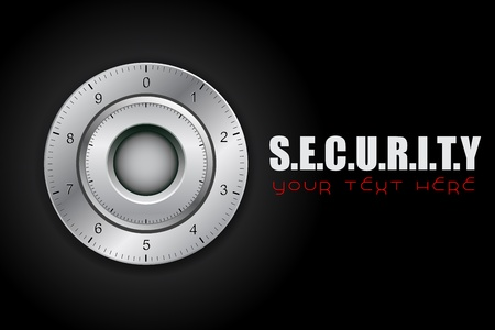 combinations: illustratiopn of combination lock on security background