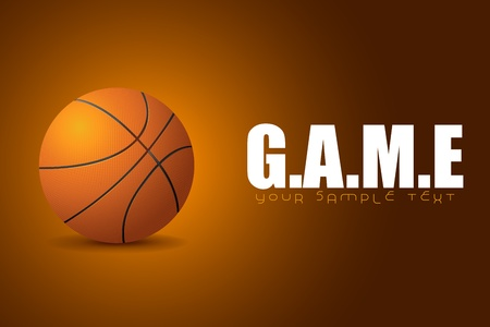 illustration of basketball on game background