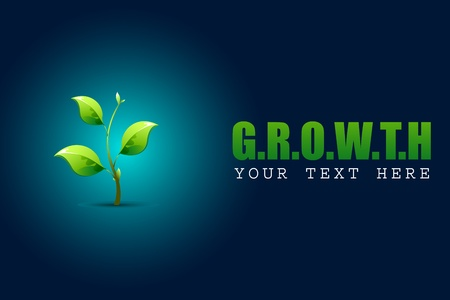 illustration of growing sapling plant in growth concept background Vector