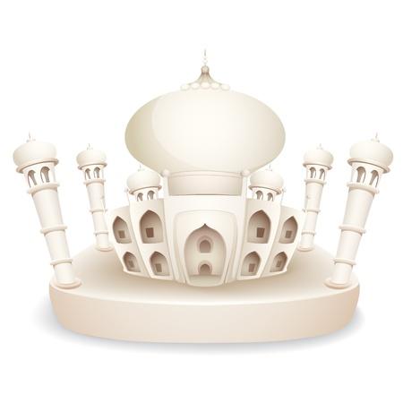 illustration of model of Taj Mahal of India Vector