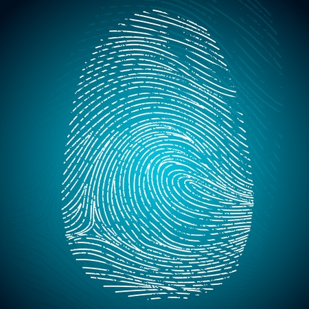 finger print: illustration of impression of finger print on abstract background Illustration