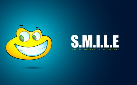 illustration of smile face on abstract motivational background Vector