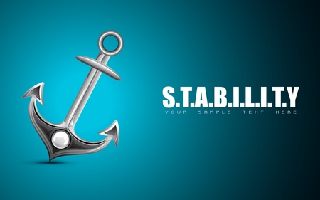illustration of anchor on motivational stability background Vector