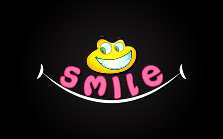 smile please: illustration of smile expression with smiley face