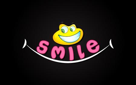 carita feliz caricatura: ilustración de la expresión sonrisa con cara sonriente