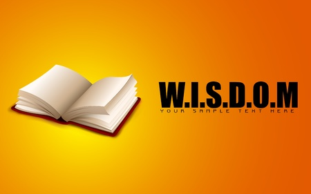 illustration of open book on motivational wisdom background