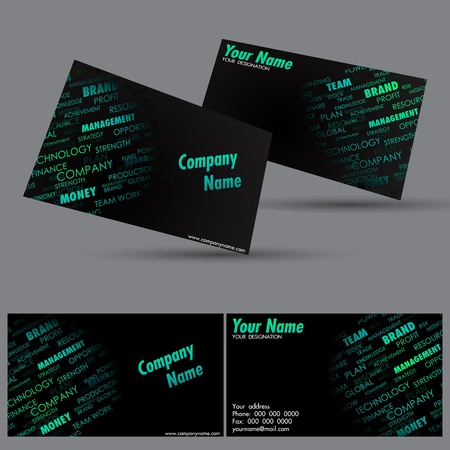 illustration of front and back of corporate business card Stock Vector - 13598370