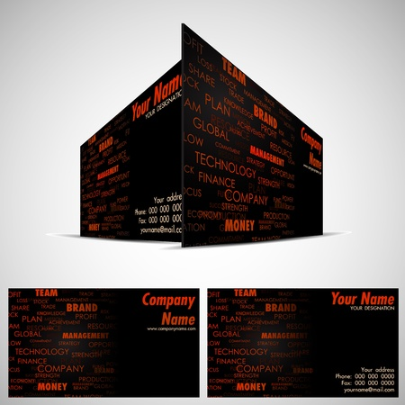 illustration of front and back of corporate business card Stock Vector - 13598371