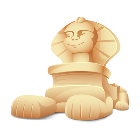 the sphinx: illustration of sphinx model on white background
