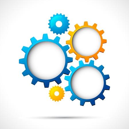 industrial engineering: ejemplo de dise�o de p�ginas web abstracto con copia espacio en rueda dentada Vectores