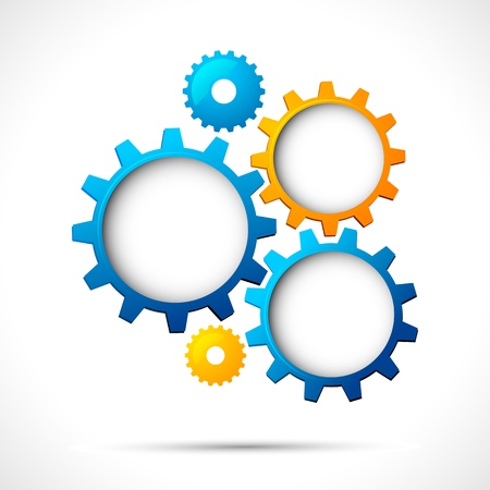 illustration of abstract web design with copy space in cog wheel Vector