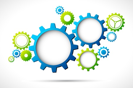 gears concept: illustration of abstract web design with copy space in cog wheel Illustration