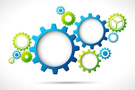 � teamwork: illustrazione del web design astratto con lo spazio copia in ruota dentata