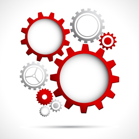 gear motion: illustration of abstract web design with copy space in cog wheel Illustration