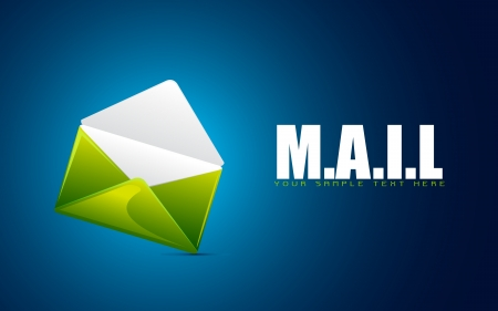 illustration of envelope on abstract background showing mail Vector