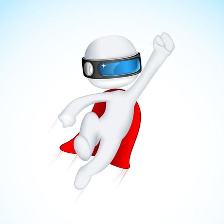 super human: 3d ilustraci�n de superh�roe Vectores
