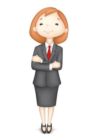 3d manager: illustration of 3d business women