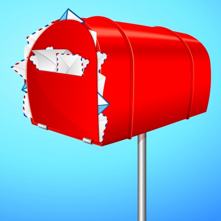illustration of over loaded mail box  Vector
