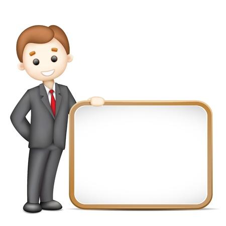 3d manager: illustration of 3d business man