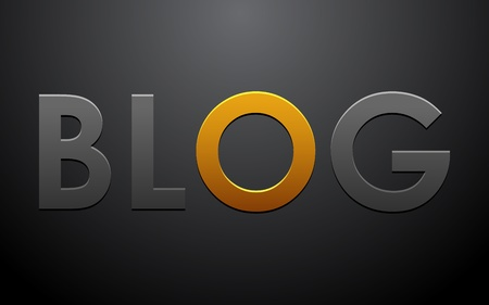 blogger: illustration of blog text on abstract black background
