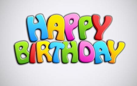 happy occasion: illustration of colorful happy birthday text on abstract background