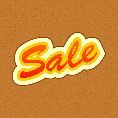 illustration of sale tag on abstract background Vector