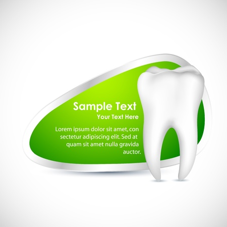 illustration of healthy teeth with copy space Vector