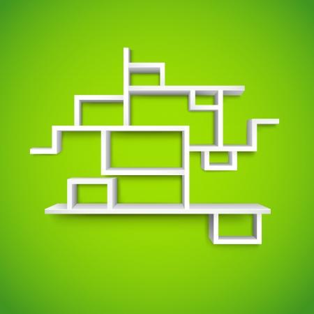 illustration of empty shelf on wall for presentation Stock Vector - 13926451