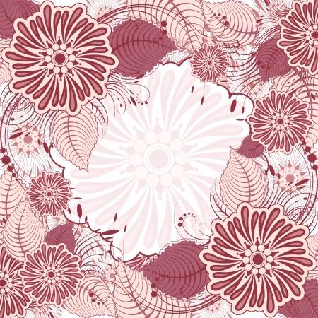 illustration of retro flower on seamless background Stock Vector - 13956588